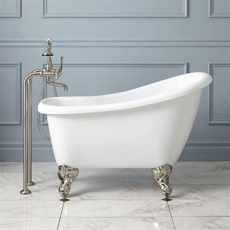 clawfoot tub 43 quot carter mini acrylic clawfoot tub bathroom