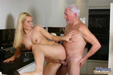 Beautiful Blonde Michelle Seduces Senior To Suck Oldman