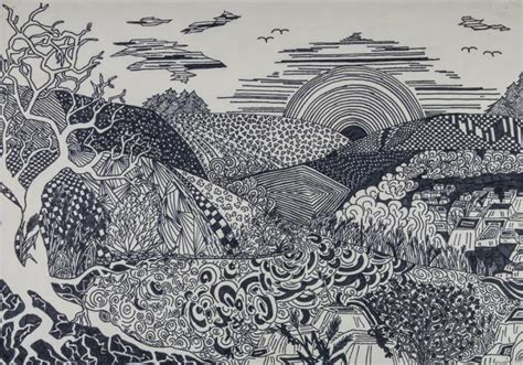 Verschiedene Strukturen Zeichnen by Schl 252 Sselwort Album Strukturen 187 Landschaft Schulkunst