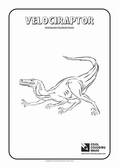 Coloring Velociraptor Pages Cool Dinosaurs Animals Educational