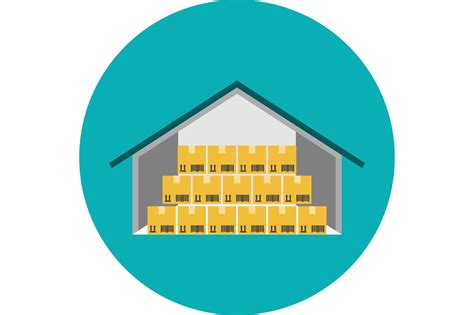 warehouse flat icon illustrations creative market