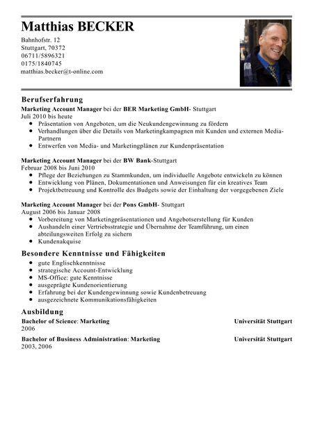 Beispiele Für Lebenslauf by Lebenslauf Beispiele F 252 R Managerposition 7 Briefkopf