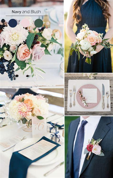 navy blue wedding color schemes top 5 fall wedding color combo ideas for autumn brides
