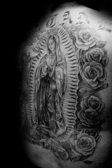 50 Guadalupe Tattoo Designs For Men - Blessed Virgin Mary