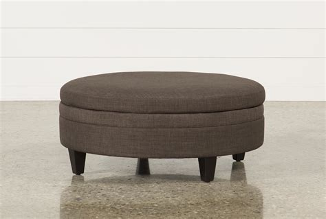circle ottoman with storage adler fabric large storage ottoman living spaces