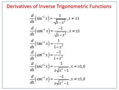 Integrals Of Inverse Trigonometric Functions Studycom