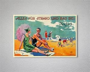 Alles Fürs Bad : alles f r strand und bad bei vintage travel poster poster ~ Michelbontemps.com Haus und Dekorationen