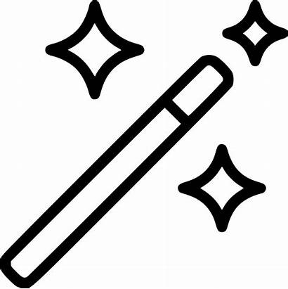 Magic Wand Icon Wizard Stick Svg Stars