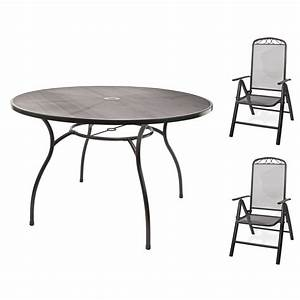 Gartenmöbel Set Runder Tisch : gartenm bel metall 1x tisch gartentisch rund 120x71 2x stuhl gartenstuhl set ebay ~ Bigdaddyawards.com Haus und Dekorationen
