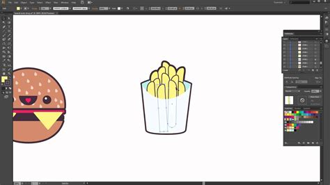 video tutorial how to create a soda shop icons set