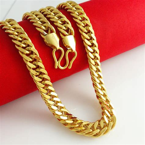 new arrival fashion 24k gp gold plated mens 2018 wholesale new arrival 24k gold plated necklace men