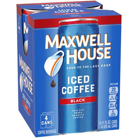 Février 15 2016, 5:49 pm. Maxwell House Ready to Drink Black Iced Coffee, 11 oz Cans ...