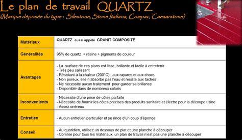 plan de travail cuisine quartz prix le plan de travail quartz cuisine douillet