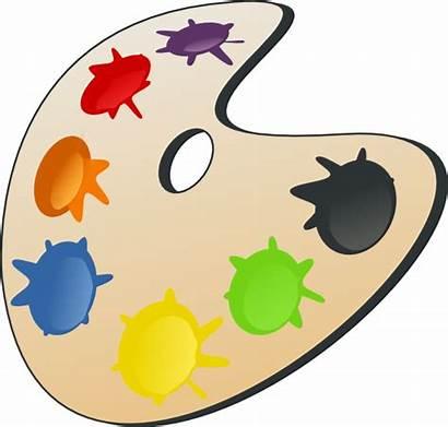 Clip Colors Palette Clipart Svg Cliparts Artist