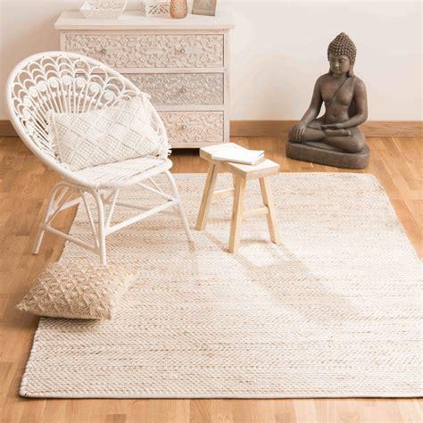 tapis en coton  jute  barcelone maisons du monde