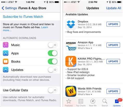 automatic updates on iphone turn automatic ios app updates tidbits