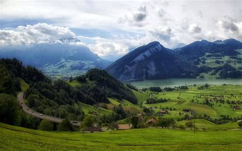 gambar wallpaper pemandangan gunung gudang wallpaper