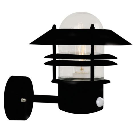 blokhus pir outdoor wall lantern nordlux 25031003 black