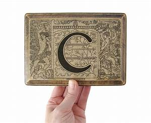 the letter c monogram plaque 1922 french dictionary by With letter plaques