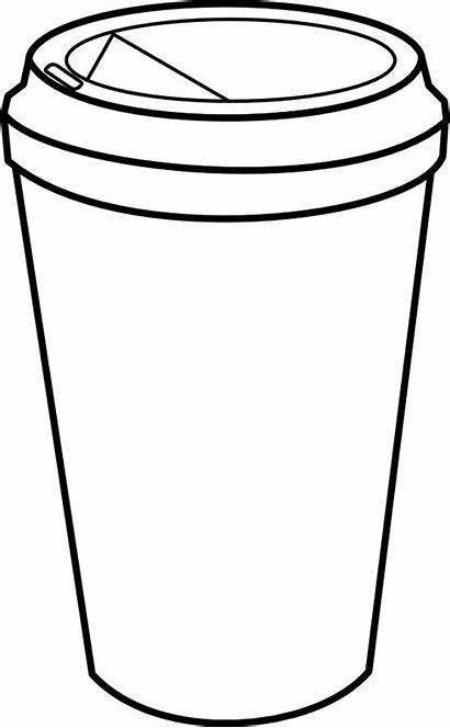 Coffee Cup Outline Clipart Clip Heart Graphic