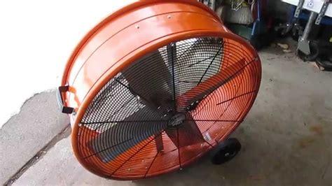 max air pro fan maxxair 30 in industrial heavy duty 2 speed pro drum fan