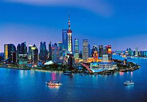 Shanghai Skyline Wall Mural DM135