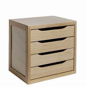 Rangement Tiroir Bois : bloc 4 tiroirs castorama ~ Edinachiropracticcenter.com Idées de Décoration