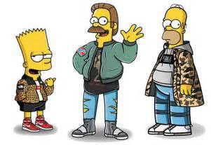 Cartoon Characters Wearing Supreme