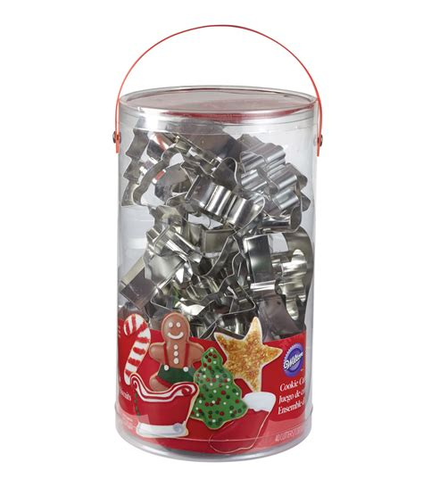christmas metal cookie cutter set 40 count jo ann