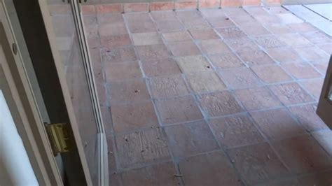 clean saltillo tile removal in scottsdale arizona part 1