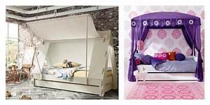 Lit Maison Fille : le lit cabane fille id es en images ~ Teatrodelosmanantiales.com Idées de Décoration