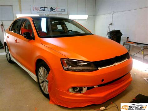matte orange matte orange volkswagen jetta tdi vehicle customization