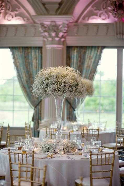 beautiful tall vase centerpieces   wedding