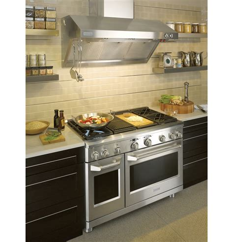 monogram  stainless steel professional hood zvrsfss ge appliances