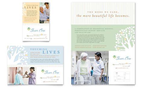 Home Health Care Brochure Templates by Elder Care Nursing Home Flyer Ad Template Design