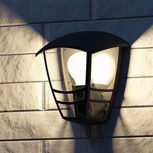 Philips Mygarden Creek Wandlamp Zwart  Rechtuit Schijnend