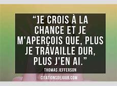 Citation sur le travail et le succès de Thomas Jefferson