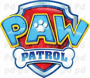 Paw Patrol Logo Wall Decal - Paw Patrol Kids Bedroom Wall