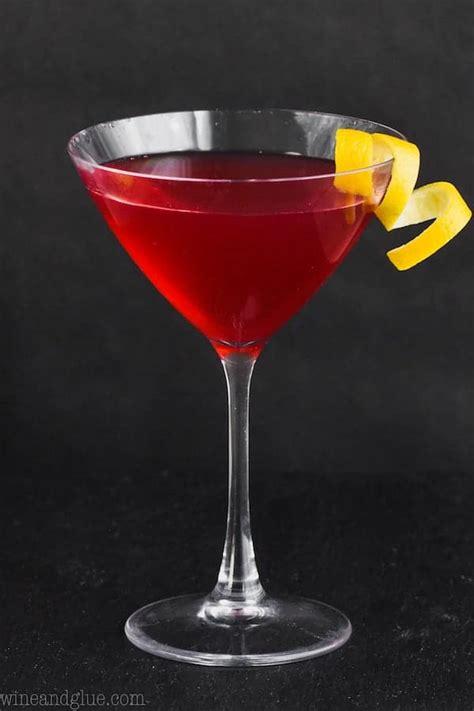 cosmopolitan cocktail wine  glue