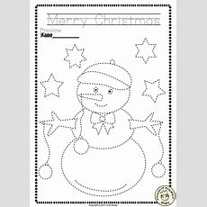 Christmas Trace And Color Pages {fine Motor Skills + Prewriting}  Preschool Ideas Christmas