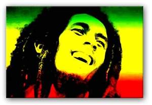 bob marley rasta flag canvas
