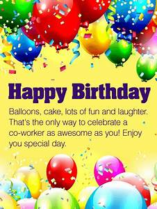 Enjoy Your Special Day - Happy Birthday Wishes Card for Co ...