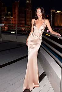 Al S Formal Wear Abyss By Abby Gold Satin Evening Gown Open Back Unleashed
