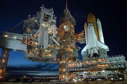 Nasa Pad Atlantis Shuttle Launch Space Night