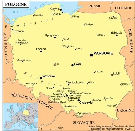 Pologne Carte Europeenne by Pologne