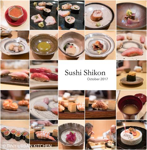 Sushi Shikon Hong Kong  3 Michelin Stars  Tiny Urban Kitchen