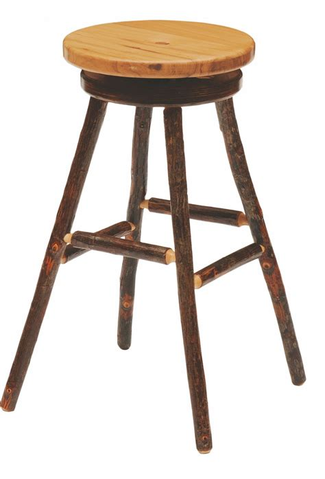 hickory hickory seat 30 quot swivel bar stool from
