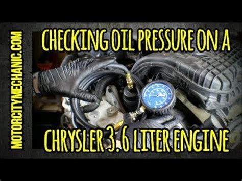checking oil pressure   chrysler    liter