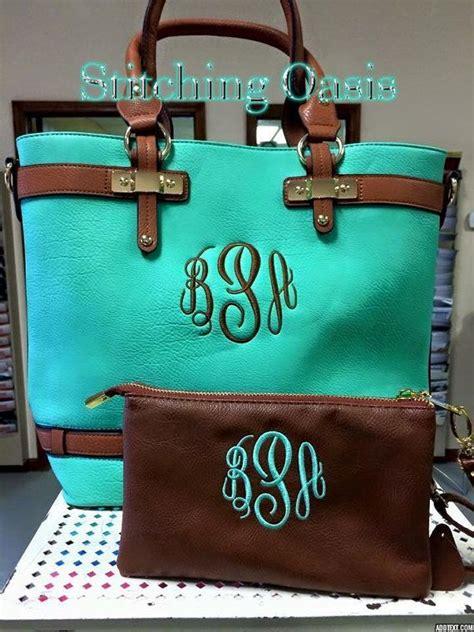 monogrammed purse bag tote mint  coral monogrammed purses bags purses