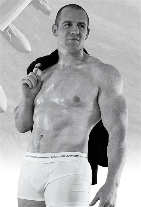 Mike Tindall Portrait Of A Royal Husband Oiled Topless And Posing Daily Mail Online